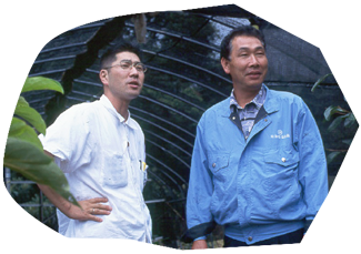 Tatsuo Miyajima (Left) and Masayuki Ebinuma (Right)
